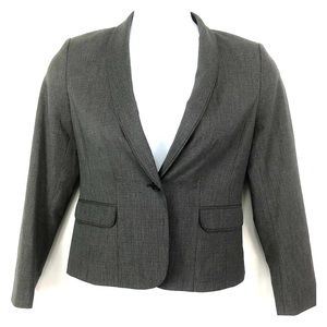 Halogen Gray Blazer Jacket One Button Sz 8P